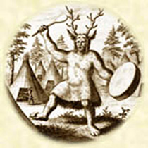 picture of drumming shaman